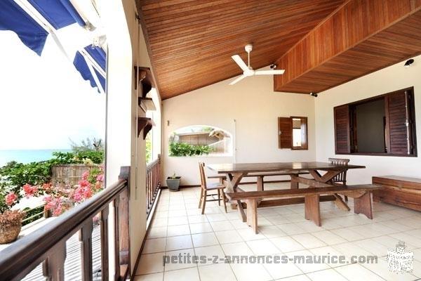 Beachfront villas for rent at grand gaube