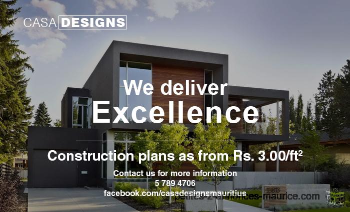 Casa Designs Mauritius - Complete Construction Plans