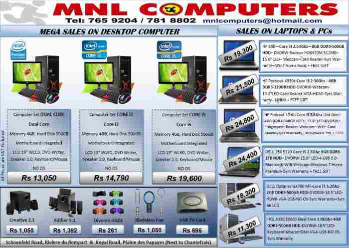 Computers Set and Laptops for Sales @ MNL COMPUTERS