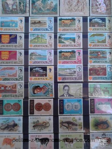 A vendre 3 Albums de Timbres (du Monde entier) - Tres belle colleciton de timbres tres rare