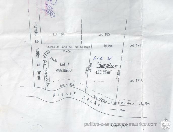 A vendre terrain residentiel
