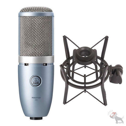 AKG PERCEPTION 220 Condenser Mic + Case + Shock mount. FOR SALE! NEW! Only 1 left!
