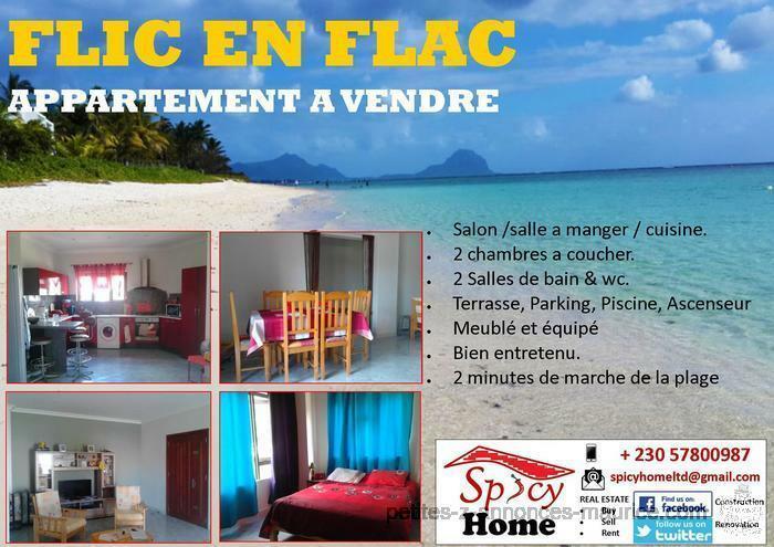 Appartement a Vendre Flic en Flac