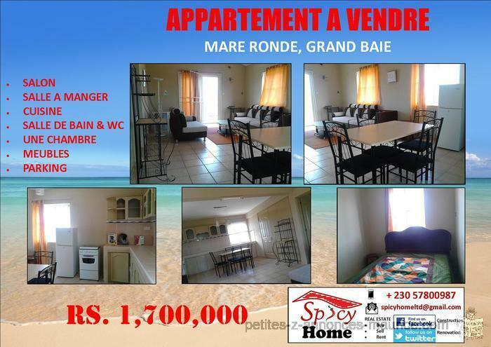 Appartement a Vendre Mare Ronde ,Grand Baie
