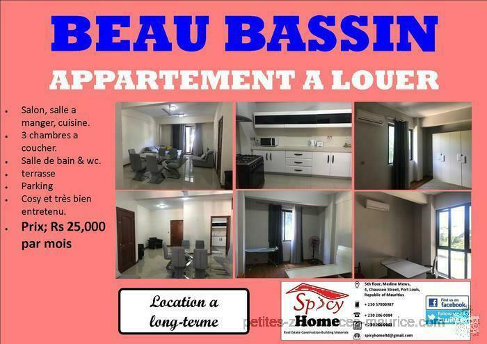 Appartement a louer Beau Bassin