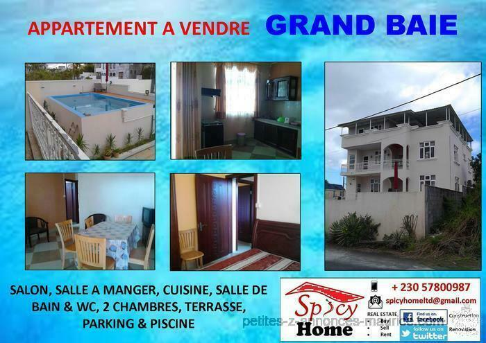 Appartement de 85 m2 a Vendre Grand Baie
