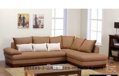Canapé d'angle ANKARA - Cuir de buffle caramel