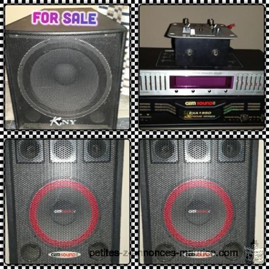 DJ P.A a vendre