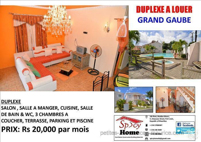 Duplex a Louer Grand Gaube, Les Barachois Melville