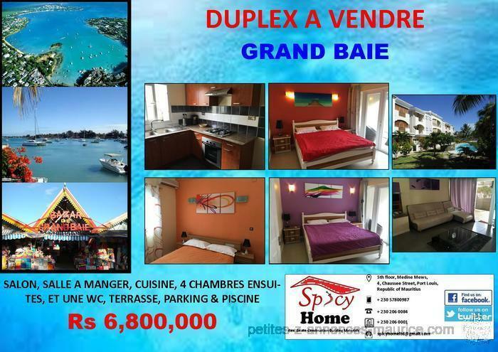 Duplex a Vendre Grand Baie