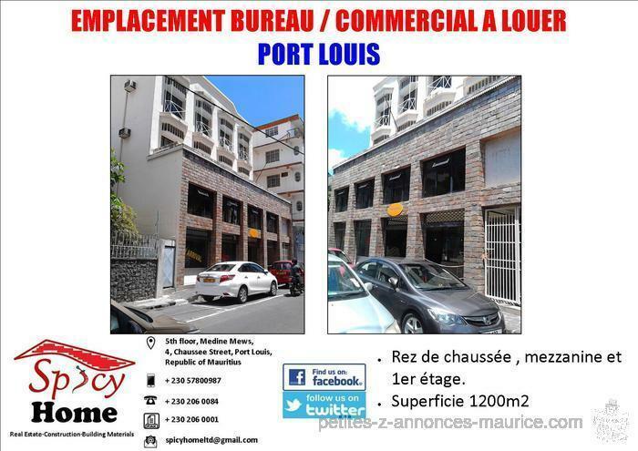 Emplacement Bureau / Commercial a Louer Port Louis