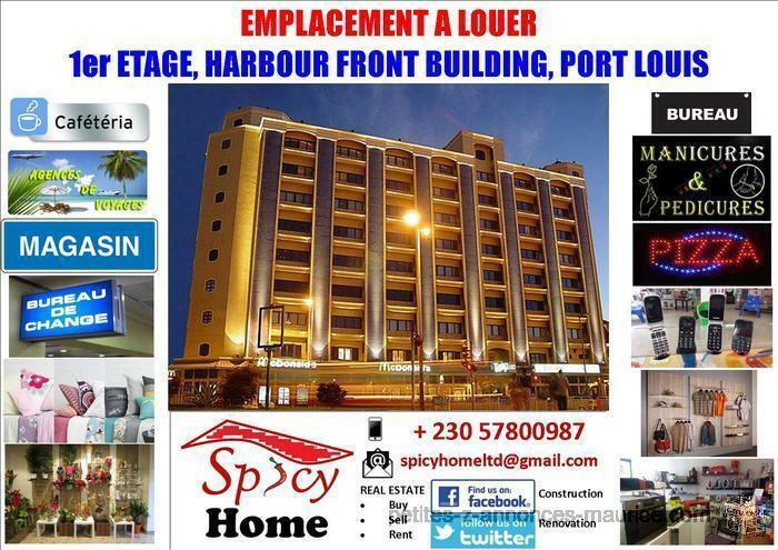 Emplacement a louer 1er etage Harbour Front Building Port Louis