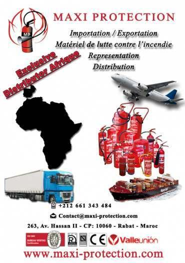 Grossiste extincteurs/ Maurice Afrique