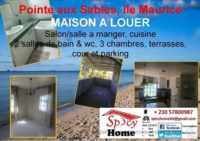 Maison a Louer Pointe aux Sables