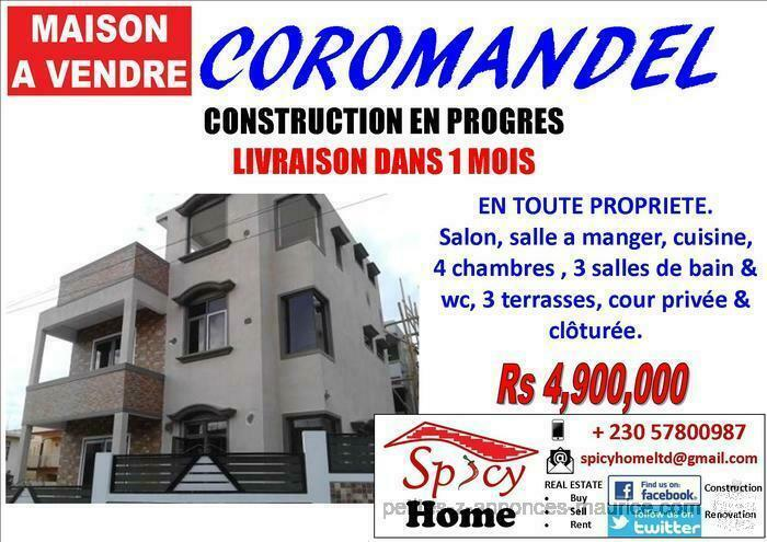 Maison a Vendre Coromandel