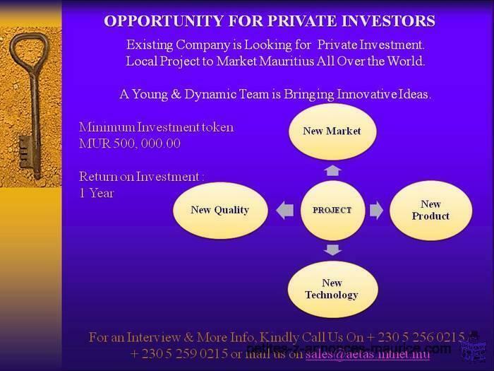 Opportunité pour Investir dans un nouveau marché