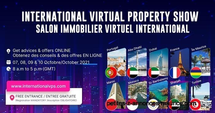 SALON IMMOBILIER INTERNATIONAL VIRTUEL – INTERNATIONAL VIRTUAL PROPERTY SHOW