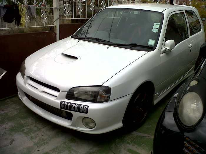 petite annonce toyota glanza tuned up to 300cvo turbo 3mode 1 1 5 2bar reglabe suspension. Black Bedroom Furniture Sets. Home Design Ideas