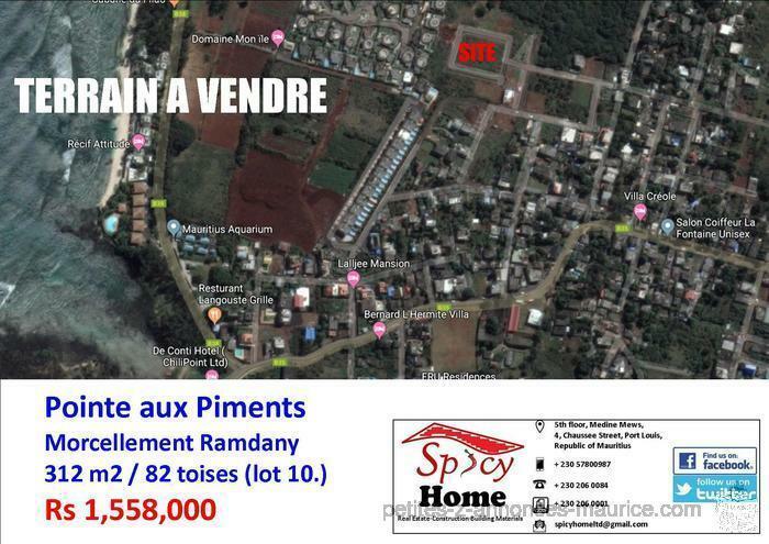 Terrain a Vendre Pointe aux Piments, Morcellement Ramdany , LOT 10