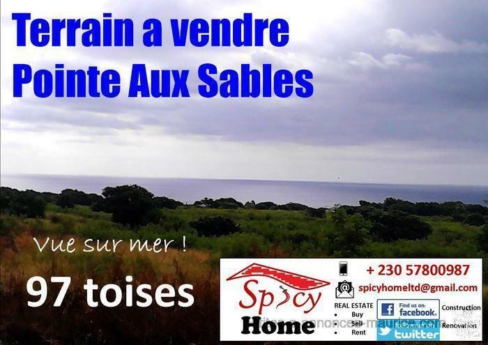 Terrain a Vendre Pointe aux Sables