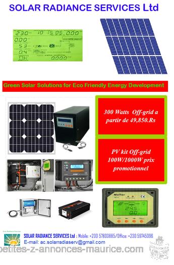 Vend kits Energie solaire photovoltaique OFF- GRID