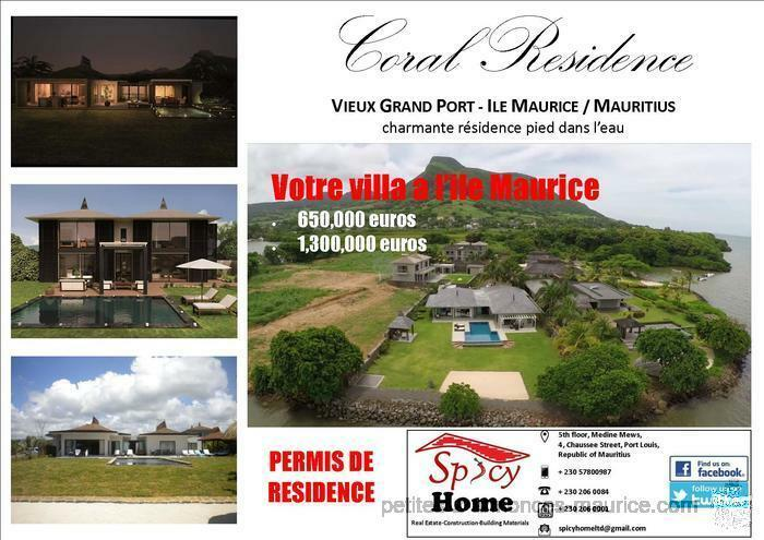 Villa a Vendre Coral Residence, Vieux Grand Port