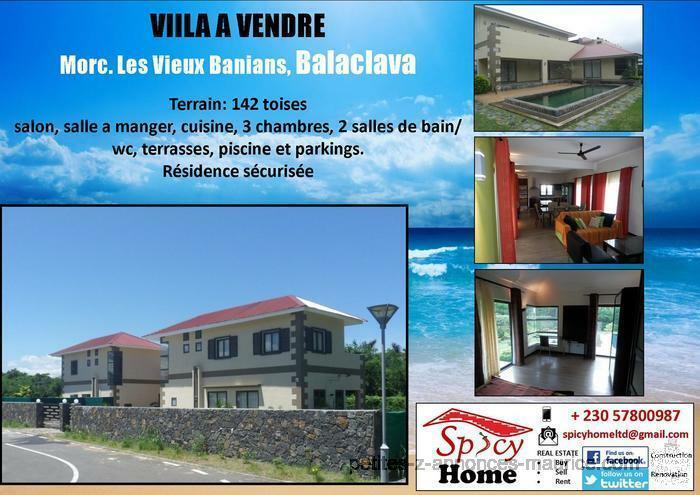 Villa a Vendre Morcellement les Vieux Banians Balaclava