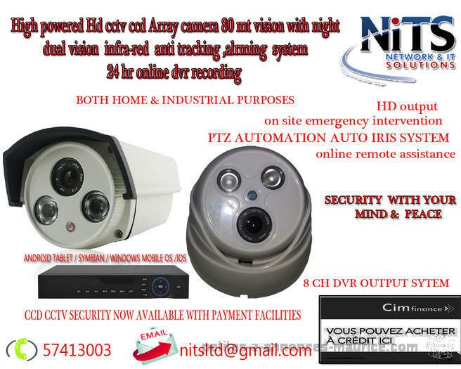 installation professionel de camera haute surveillance
